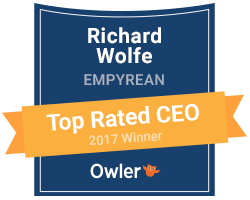 Empyrean's Rich Wolfe Wins an Owler 2017 Top Rated CEO Award